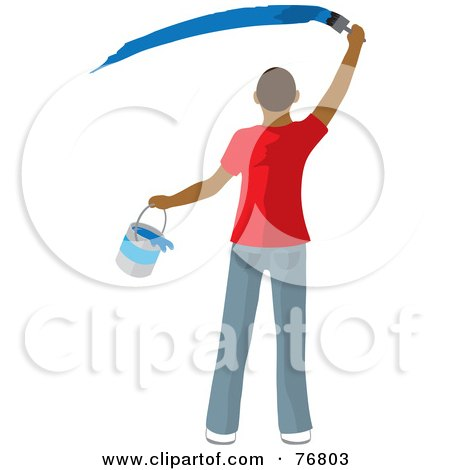 Royalty Rf Wall Paint Clipart Illustrations