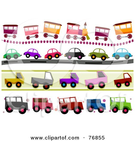 Clipart Colorful Happy Toy Train Character - Royalty Free Vector ...