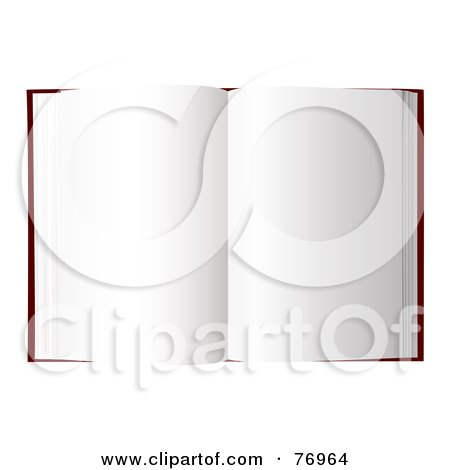 Royalty-Free (RF) Clipart Illustration of an Open Book With Blank New Pages by michaeltravers