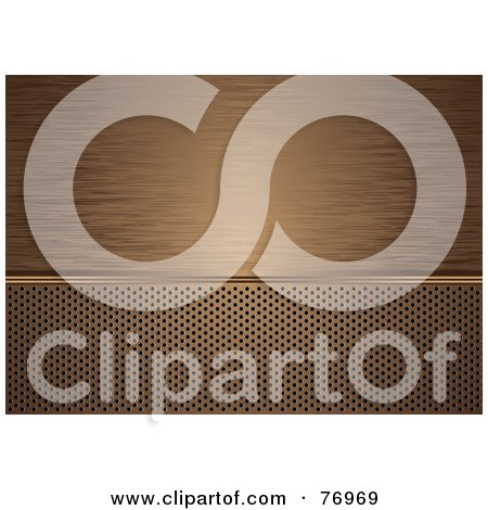 Royalty-Free (RF) Clipart Illustration of a Background Of Brushed Bronze Over A Vent by michaeltravers