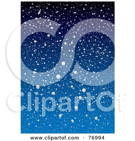 Royalty-Free (RF) Clipart Illustration of a Blue Snowy Background by michaeltravers