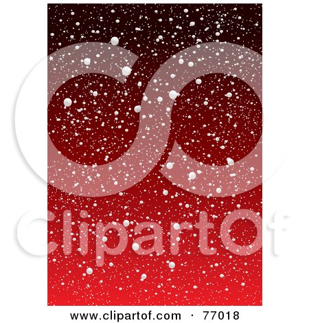 Royalty-Free (RF) Clipart Illustration of a Red Snowy Background by michaeltravers