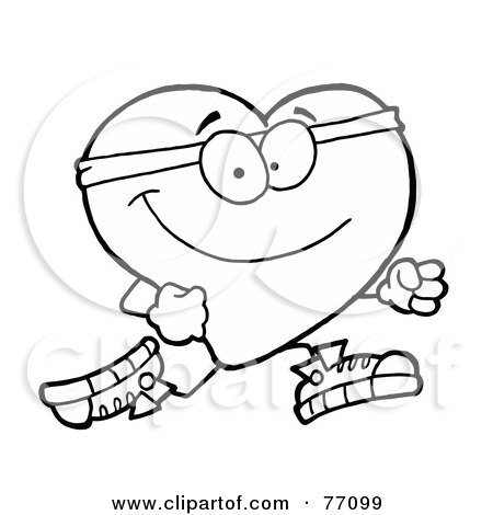 healthy heart coloring pages | Royalty-Free (RF) Healthy Heart Clipart, Illustrations ...