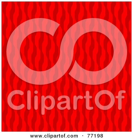 Royalty-Free (RF) Clipart Illustration of a Seamless Background Of Red Geometric Wavy Vertical Lines by Arena Creative