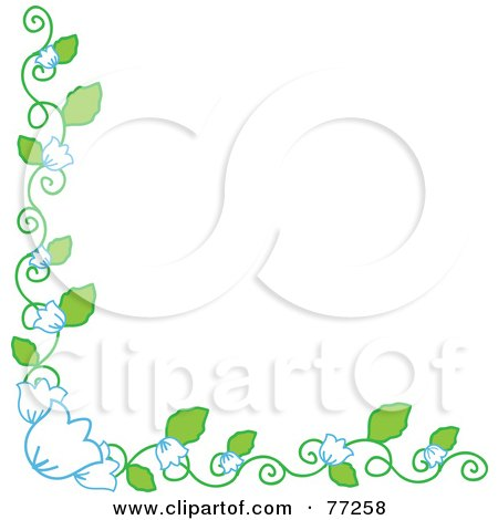 Royalty-Free (RF) Clipart Illustration of a Bell Flower Vine Corner Border by Rosie Piter