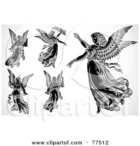 Royalty-Free (RF) Clipart Illustration of a Digital Collage Of Flying ...