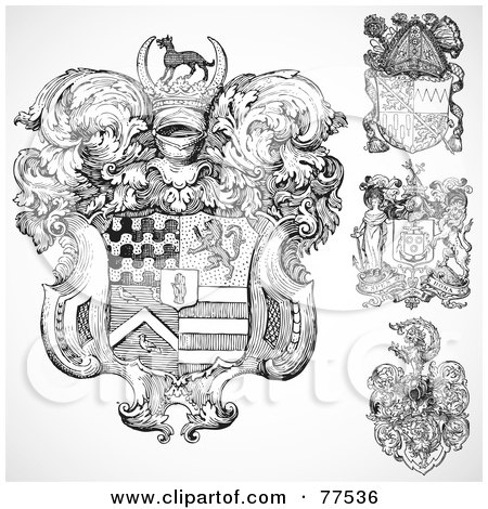 Digital Collage Of Four Ornate Gothic Coat Of Arms Shields Poster Art Print 77536 besides Starthere besides 12 additionally I0000DLG9zqzU12c furthermore Frilly Scroll Cliparts. on gothic interior design