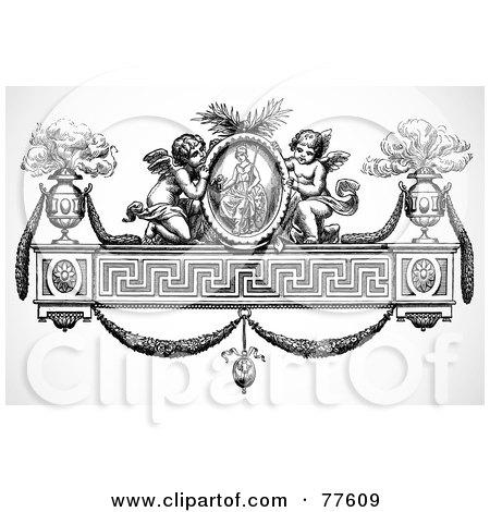 cherub wallpaper. Background by BestVector #