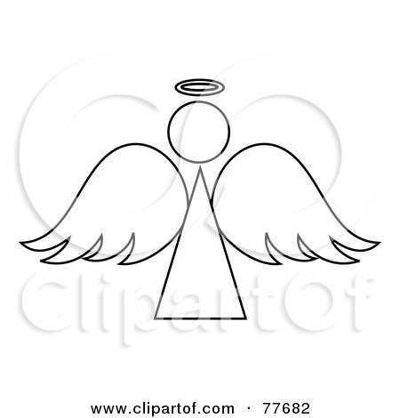 royalty free  rf  clipart illustration of a green angel angel clipart black and white free snow angel clipart black and white