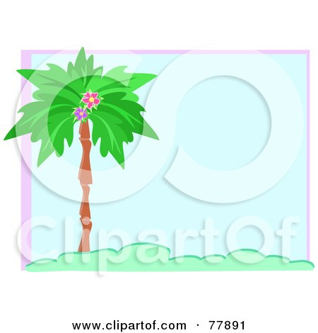 palm trees background. Blue Palm Tree Background