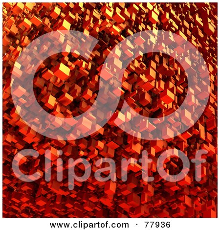 Royalty-Free (RF) Clipart Illustration of Red 3d Floating Blocks by Tonis Pan