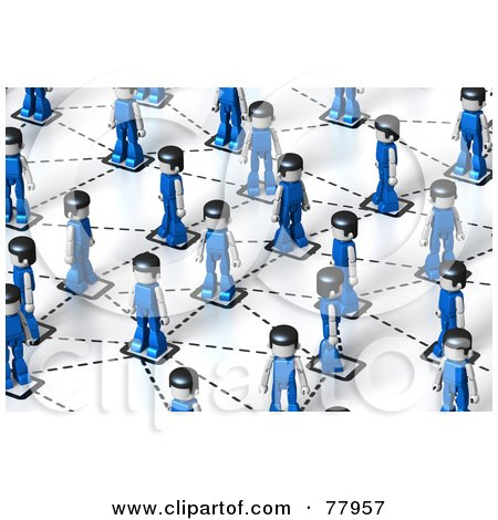 Royalty-Free (RF) Clipart Illustration of A 3d Network Of Toy People by Tonis Pan
