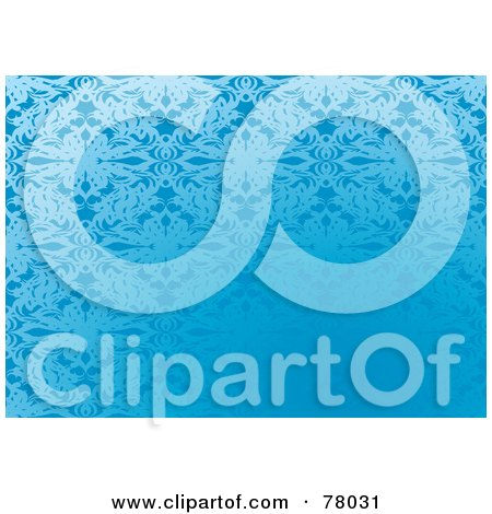 Royalty-Free (RF) Clipart Illustration of a Blue Gradient Elegant Patterned Background by michaeltravers