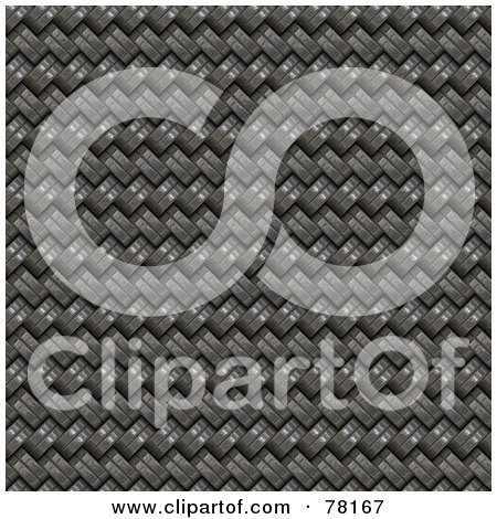 Royalty-Free (RF) Clipart Illustration of a Background Of Tightly Weaved Woven Metal by Arena Creative