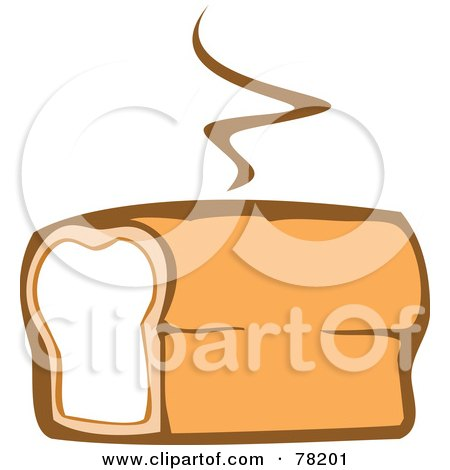 Royalty-Free (RF) Clipart Illustration of a Warm Loaf Of Fresh Bread With Steam by xunantunich