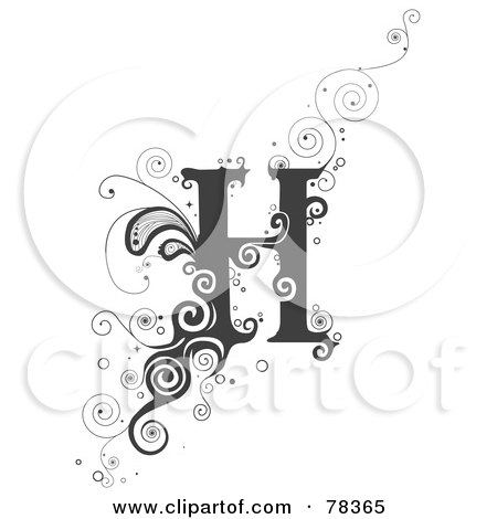 Design Letters on Clipart Illustration Of A Vine Alphabet Letter H By Bnp Design Studio
