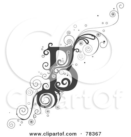 best tattoo design royalty free rf clipart illustration of a vine alphabet letter j by. Black Bedroom Furniture Sets. Home Design Ideas