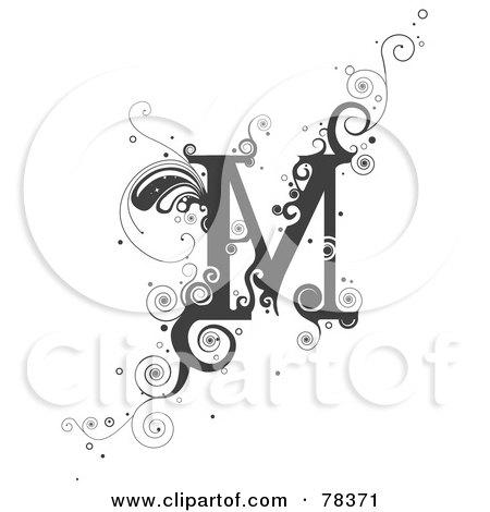 Royalty Free RF Clipart Illustration Of A Vine Alphabet Letter M By BNP Design Studio 78371