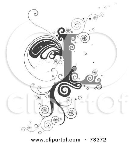Clipart Illustration of a Vine Alphabet Letter G by BNP Design Studio