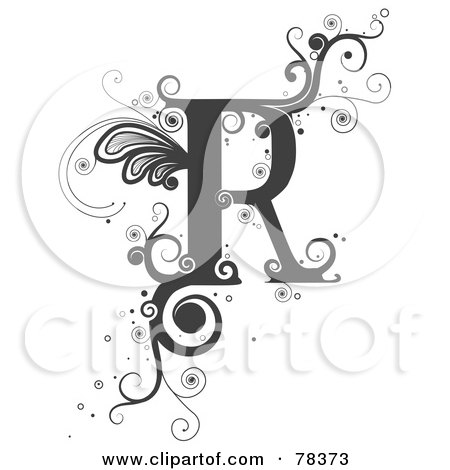 Design Letters on Clipart Illustration Of A Vine Alphabet Letter R By Bnp Design Studio