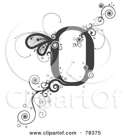 Vine Alphabet Le...O Design Letter