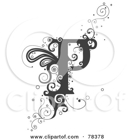 Vine Alphabet Letter P Posters, Art Prints by BNP Design Studio ...