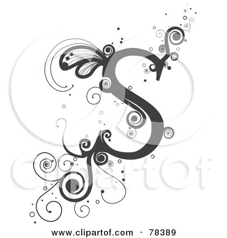 s alphabet designs  Royalty Free Letter S