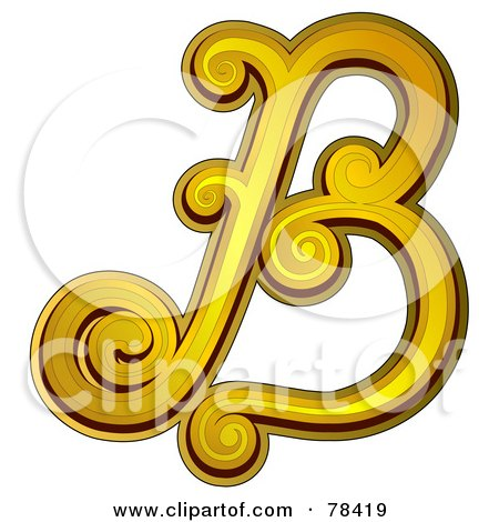 B Letter In Gold Gold Letter B by BNP