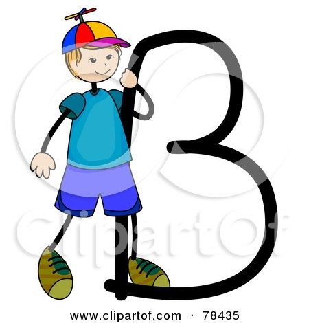 Kid Alphabet Letter B With  B Alphabet Design