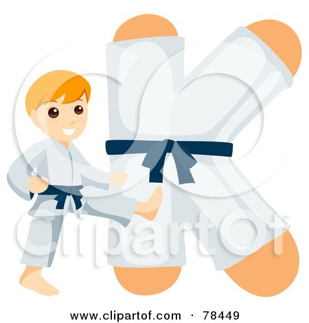 78449-Royalty-Free-RF-Clipart-Illustration-Of-An-Alphabet-Kid-Letter-K-With-A-Karate-Boy.jpg
