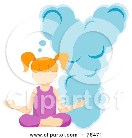 Royalty-Free (RF) Clipart Illustration of an Alphabet Kid Letter Y With A Yoga Girl by BNP Design Studio