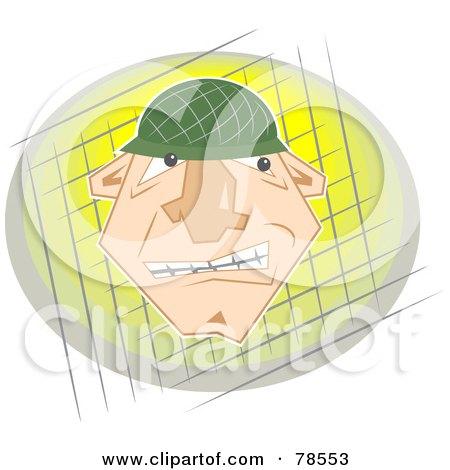 Tough Soldier Face Posters, Art Prints
