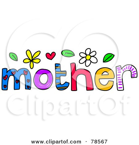 Colorful Mother Word Posters Art Prints By Prawny
