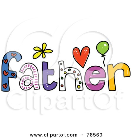 Royalty-Free (RF) Clipart Illustration of a Colorful Father Word by Prawny