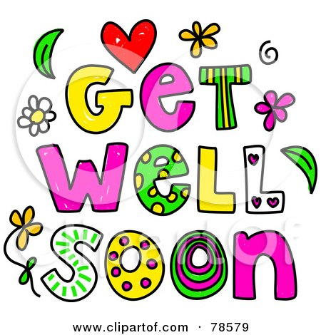 royalty free rf clipart illustration of colorful get well soon rh clipartof com free clipart get well soon get well soon clipart free