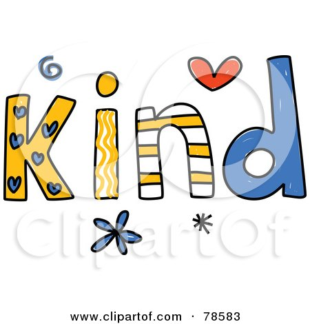 Royalty-Free (RF) Clipart Illustration of a Colorful Kind Word by ...