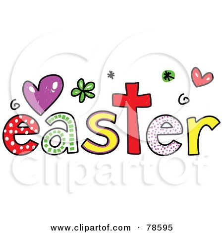 Royalty-Free (RF) Clipart Illustration of a Colorful Easter Word by Prawny