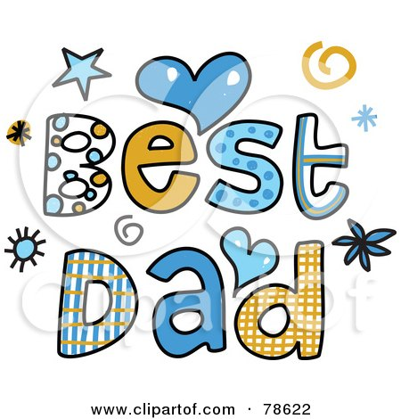 Royalty-Free (RF) Clipart Illustration of Colorful Best Dad Words by Prawny