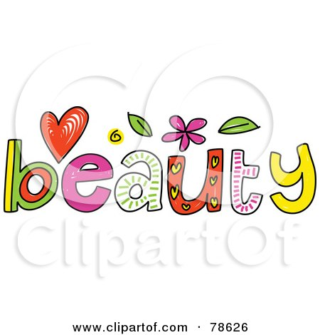 Royalty Free RF Clipart Illustration Of A Colorful Beauty Word By Prawny