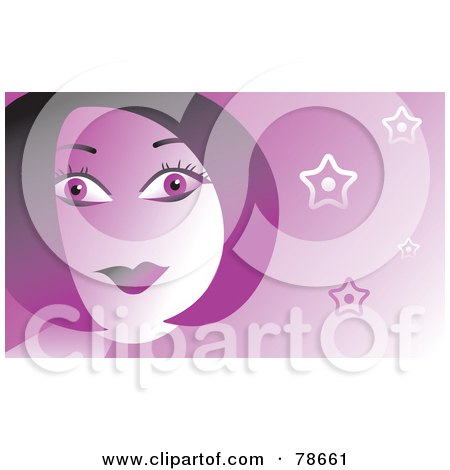Royalty-Free (RF) Clipart Illustration of a Purple Woman With Modern Hair by Prawny