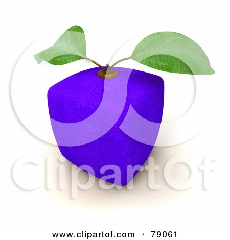 Royalty-Free (RF) Clipart Illustration of a 3d Blue Genetically Modified Orange Citrus Fruit by Frank Boston