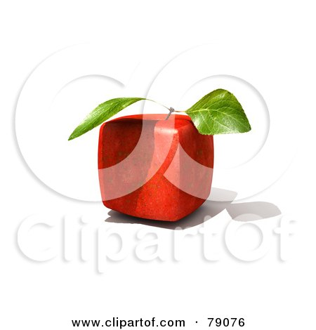 Whole 3d Genetically Modified Cubic Red Delicious Apple Posters, Art Prints