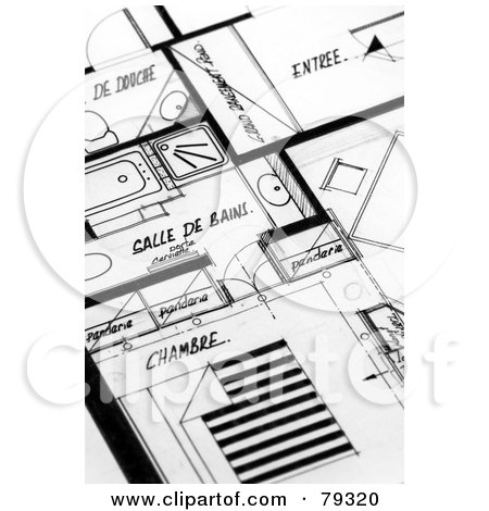 black and white apartment building clip art.  Black And White Apartment Building Blueprints Preview Clipart Royalty Free RF Illustrations Vector Graphics 1