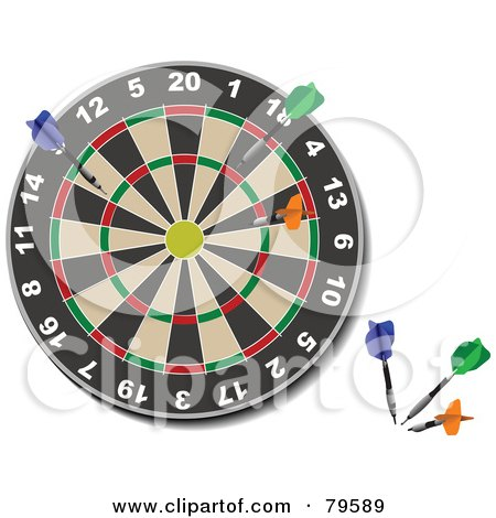 Royalty-Free (RF) Clipart of Dart Boards, Illustrations, Vector ...