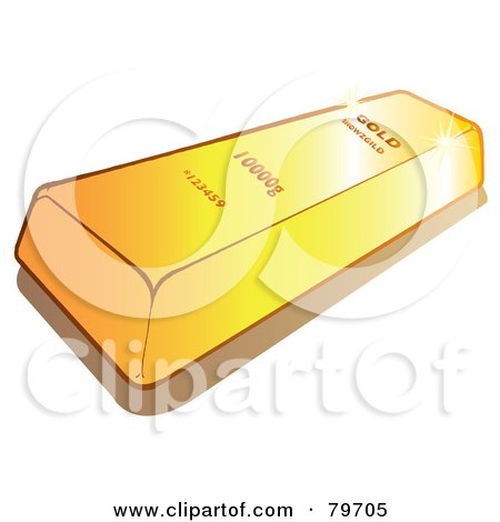Royalty-Free (RF) Stock Illustration of a Shiny Gold Bullion Bar by Snowy