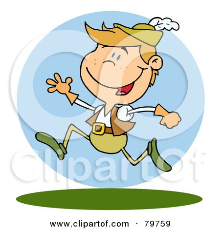 Royalty-Free (RF) Clipart Illustration of a Leaping Lord by Hit Toon