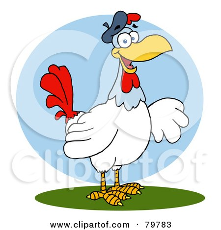 Royalty-Free (RF) Clipart Illustration of a French Hen Chicken by Hit Toon
