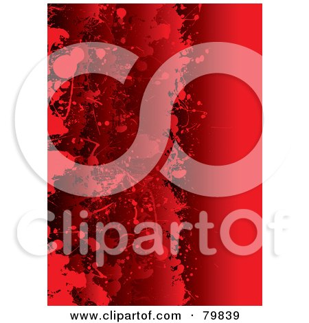 Royalty-Free (RF) Clipart Illustration of a Background Of Grungy Layered Red Blood Splatters by michaeltravers