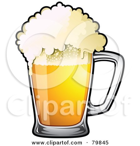 royalty free rf clipart illustration of a mug of frothy drought beer by ta images 79845. Black Bedroom Furniture Sets. Home Design Ideas