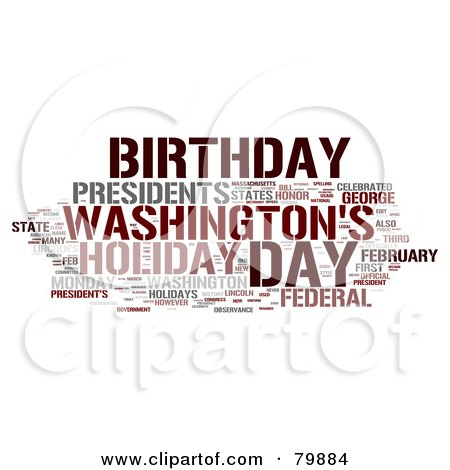 Royalty-Free (RF) Stock Illustration of a Collage Of Words; Presidents Day - Version 4 by MacX